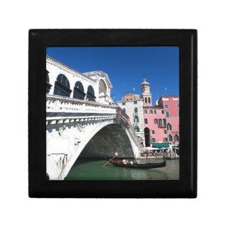 Venecia hermosa, puente de Rialto Caja De Joyas