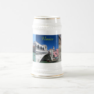 Venecia hermosa, puente de Rialto Jarra De Cerveza