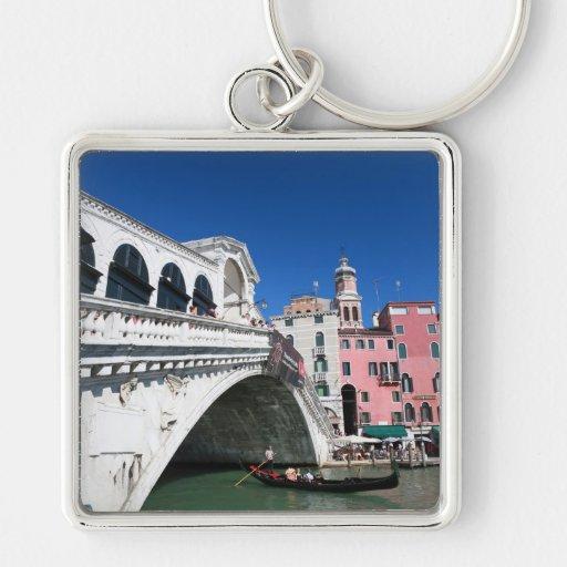 Venecia hermosa, puente de Rialto Llavero Personalizado