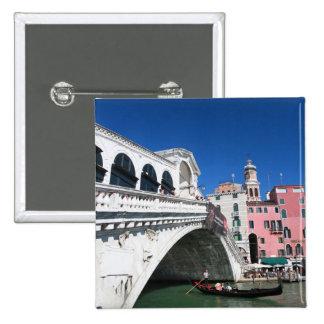 Venecia hermosa puente de Rialto Pins