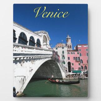 Venecia hermosa puente de Rialto Placas De Madera