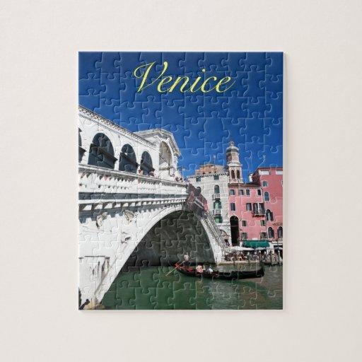Venecia hermosa, puente de Rialto Puzzle