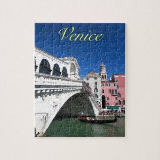 Venecia hermosa, puente de Rialto Rompecabezas