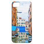 Venecia, Italia - canal, barcos y casas iPhone 5 Case-Mate Cárcasa