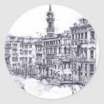 Venecia, Italia, en tinta Pegatina Redonda