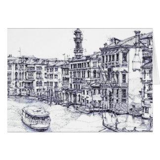 Venecia, Italia, en tinta Tarjeton