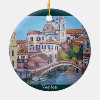 Venecia, Italia - ornamento del círculo Adorno Navideño Redondo De Cerámica