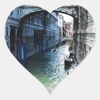 Venecia, Italia Pegatina En Forma De Corazón