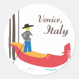 Venecia Italia Pegatina Redonda