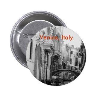 Venecia, Italia Pin Redondo De 2 Pulgadas