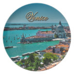 Venecia, Italia - visión aérea Plato De Comida