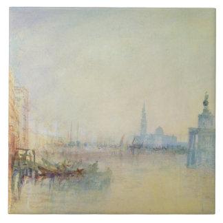 Venecia, la boca del Gran Canal, c.1840 (w/c Azulejos Ceramicos
