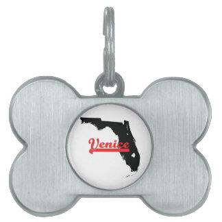 Venecia la Florida Placa De Nombre De Mascota
