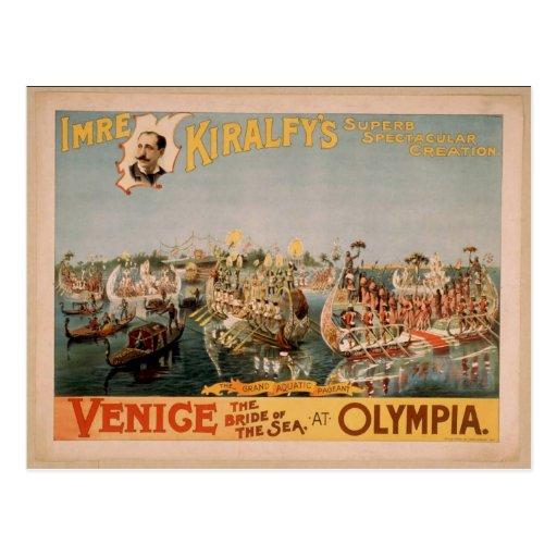 Venecia, la novia del mar, Th del vintage de Tarjetas Postales