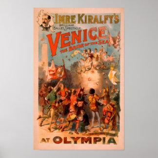 Venecia, novia del mar en el ballet de Olympia Poster