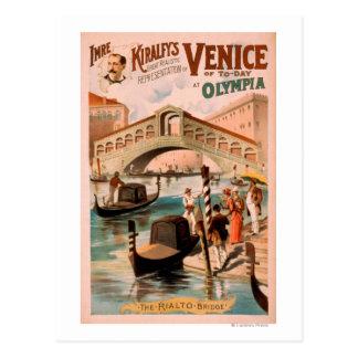 Venecia novia del mar en las góndolas 2 de Olympi Tarjeta Postal