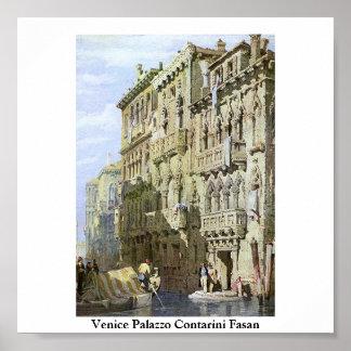 Venecia Palazzo Contarini Fasan Poster