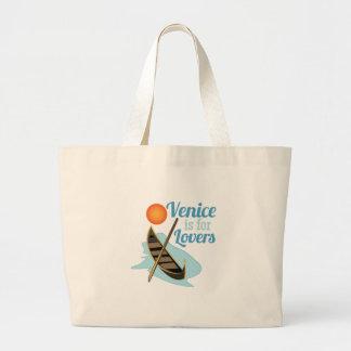 Venecia para los amantes bolsa tela grande