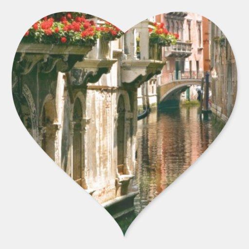Venecia Pegatina En Forma De Corazón