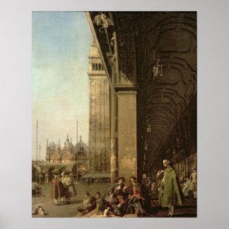 Venecia: Piazza di San Marco y la columnata Posters
