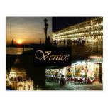 Venecia por noche postal