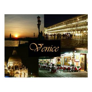 Venecia por noche tarjetas postales