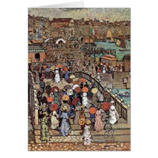 Venecia por Prendergast impresionismo del poste d Felicitaciones