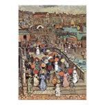 Venecia por Prendergast, impresionismo del poste Invitación 12,7 X 17,8 Cm