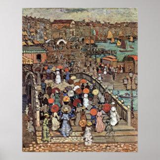 Venecia por Prendergast, impresionismo del poste Poster