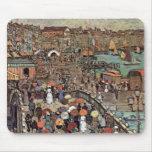 Venecia por Prendergast, impresionismo del poste Alfombrilla De Ratones