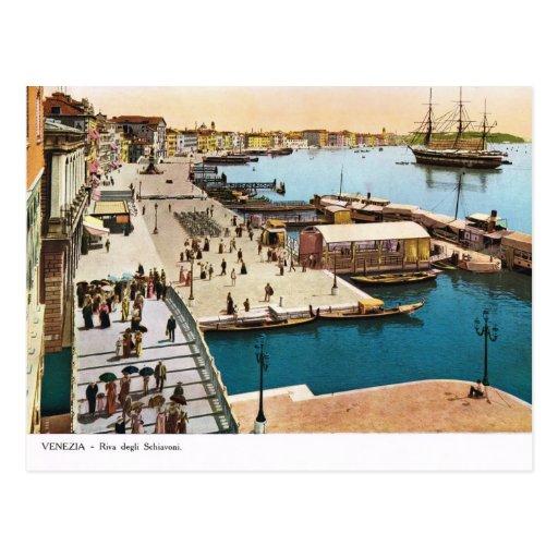 Venecia, postal 1910 del vintage de la reproducció
