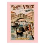 """""""Venecia teatro del vintage del hoy"""" Tarjetas Postales"""