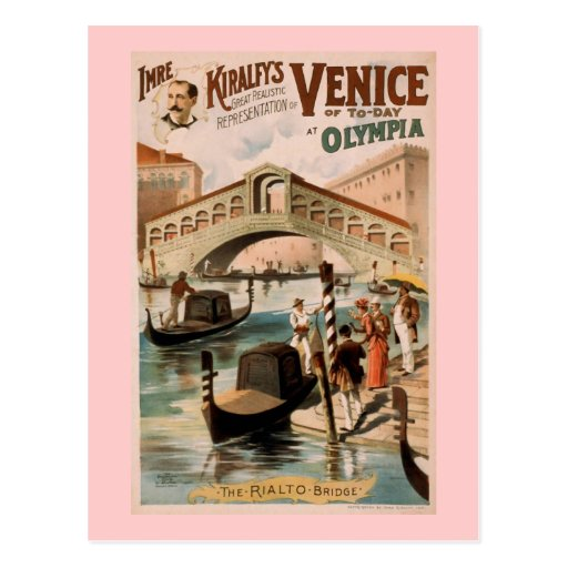 """Venecia teatro del vintage del hoy"" Tarjeta Postal"