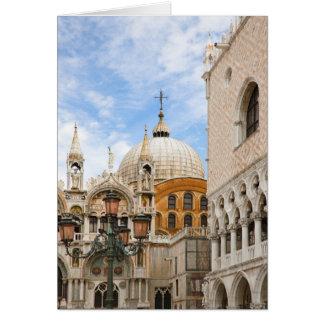 Venecia, Véneto, Italia - los pájaros se encaraman Tarjeta De Felicitación