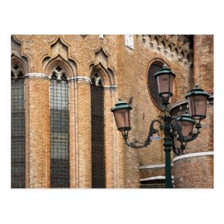 Venecia, Véneto, Italia - un poste de la lámpara Postal