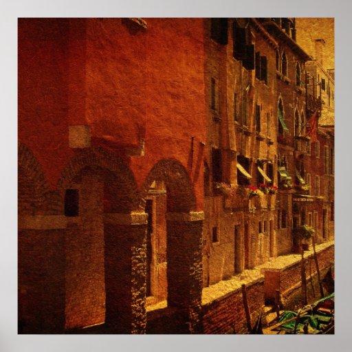 Venecia vieja póster