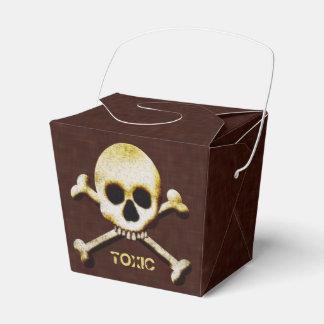 Veneno espeluznante del cráneo y del tóxico de caja para regalo de boda