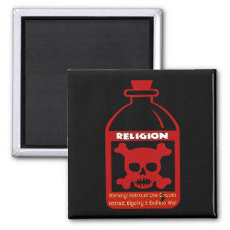 Veneno religioso imán cuadrado