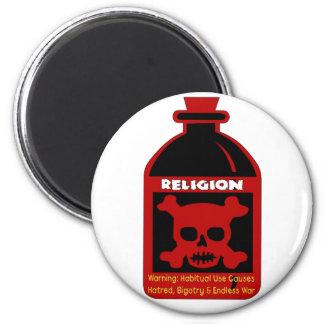 Veneno religioso imán redondo 5 cm