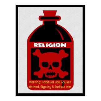 Veneno religioso tarjeta postal