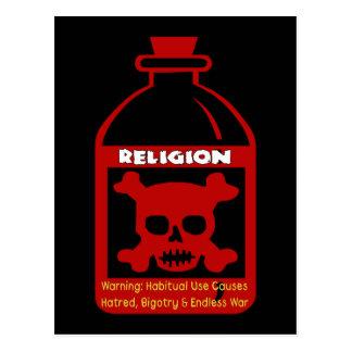 Veneno religioso tarjetas postales