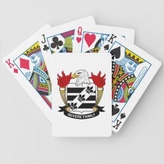 Venere el escudo de la familia baraja de cartas