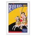 Venere la playa domingo tarjeta de felicitación
