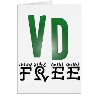 Venereal Disease Free Card