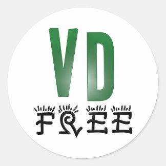 Venereal Disease Free Classic Round Sticker