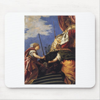 Venetia between Justitia and Pax by Paolo Veronese Mouse Pad