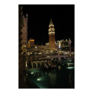 Venetian at night poster