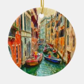 Venetian Canal Venice Italy Ceramic Ornament