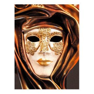 Venetian Carnival Mask Postcard