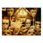 Venetian Carnival Masks Cards